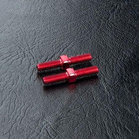 Steel turnbuckle 3X20 (red) (2)