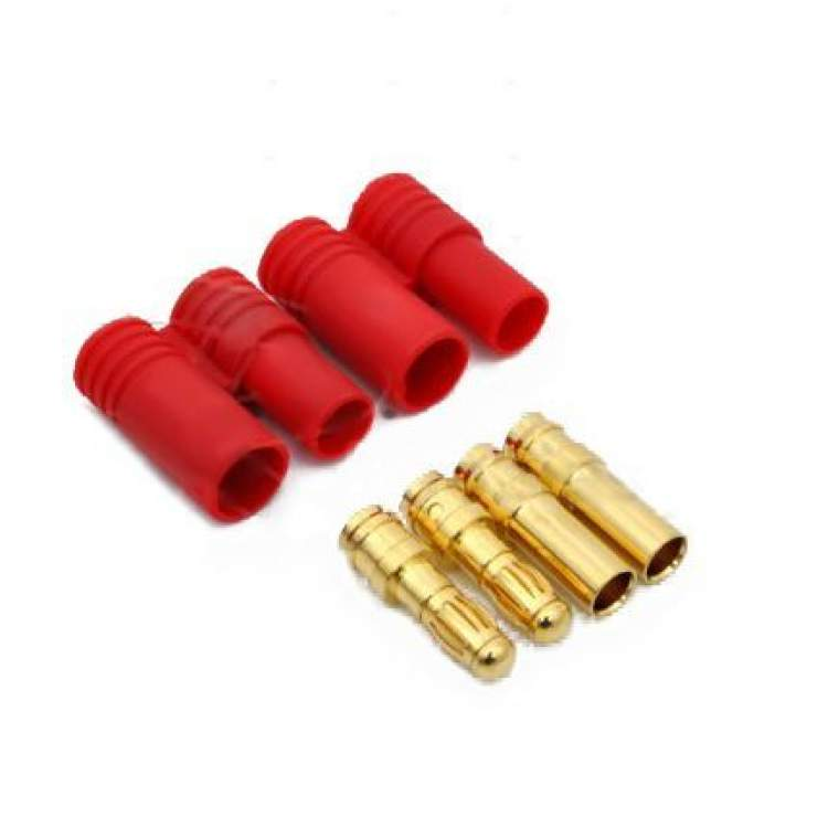 Turborix Advance 3.5mm Thermostable Gold Connectors & Shrink Plastic Tubes Set (2 Pairs)