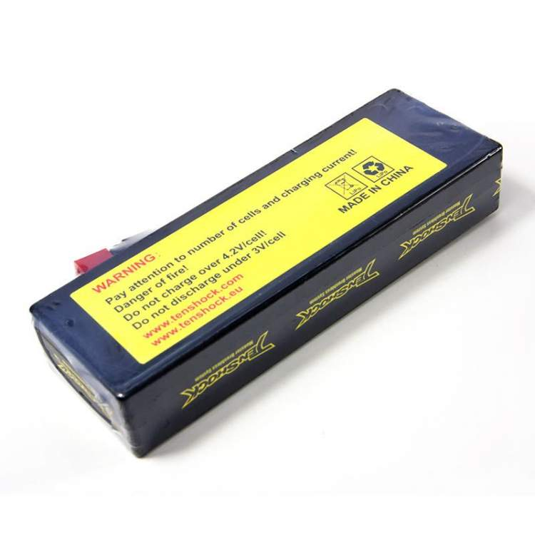 Аккумулятор Tenshock Hardcase 7.4v 6000mAh 40C with Deans to Banana Connector