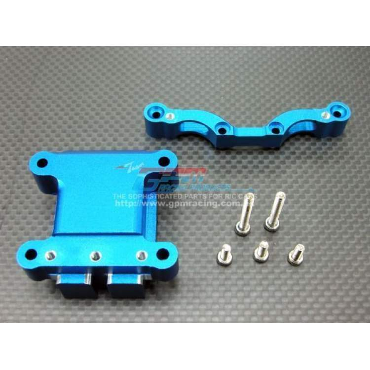 Alloy Front Damper Plate with Gear Box blue