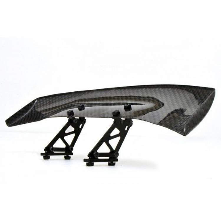 1/10 RC Racing Car 185x45mm Carbon Fiber GT Wing Rear Spoiler with Adjustable Stand A & Tool