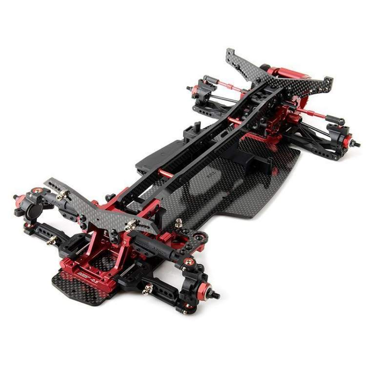 RRX-D VIP Ultra Rear Motor 1/10 Scale 2 WD Electric Drift Car Chassis ARR KIT (Red)