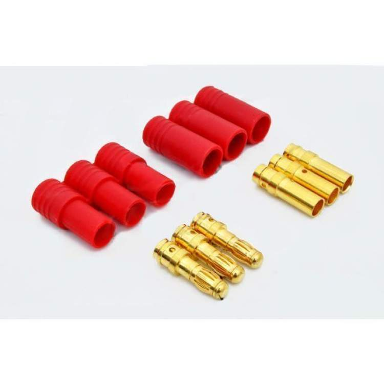 Turborix Advance 3.5mm Thermostable Gold Connectors & Shrink Plastic Tubes Set (3 Pairs)